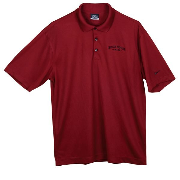 brick house burgundy nike polo shirt