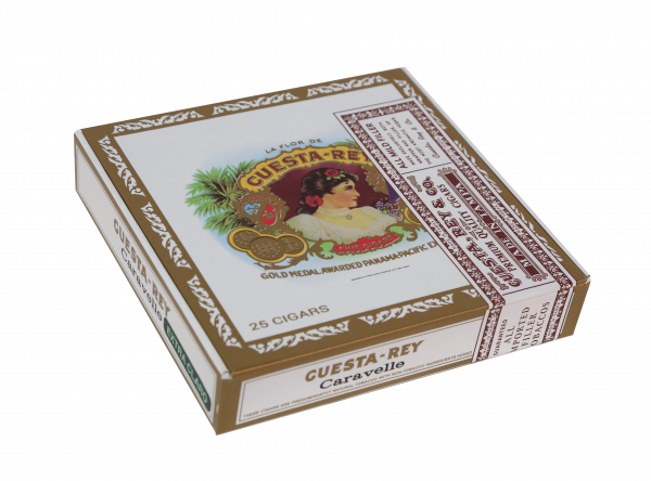 Closed box of 25 count Cuesta Rey Caravelle cigars