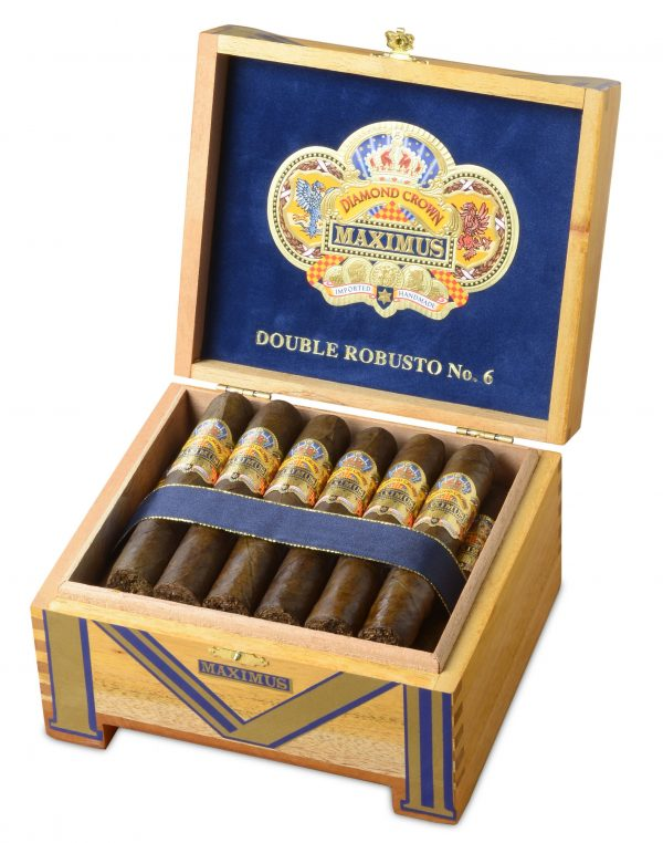 diamond crown maximus double robusto number 6 box open