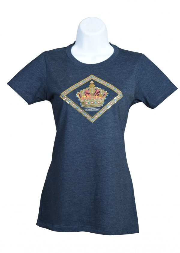 ladies diamond crown foil t shirt