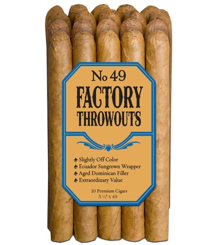 20 count bundle of Factory Throwouts No. 49 cigars