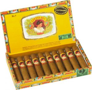 cuesta rey robusto number 7 box open