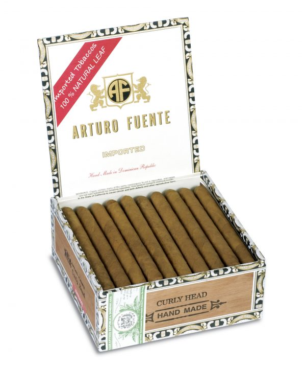 arturo fuente curly head natural box open
