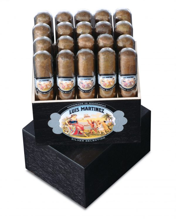 luis martinez silver colletion robusto tube box open