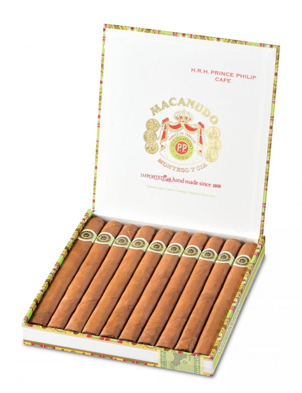 macanudo prince philip cafe box open