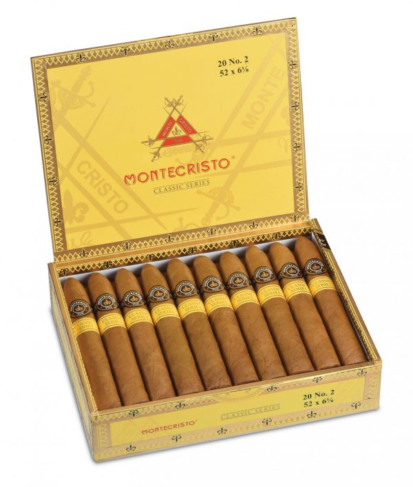 montecristo number 2 box pressed box open