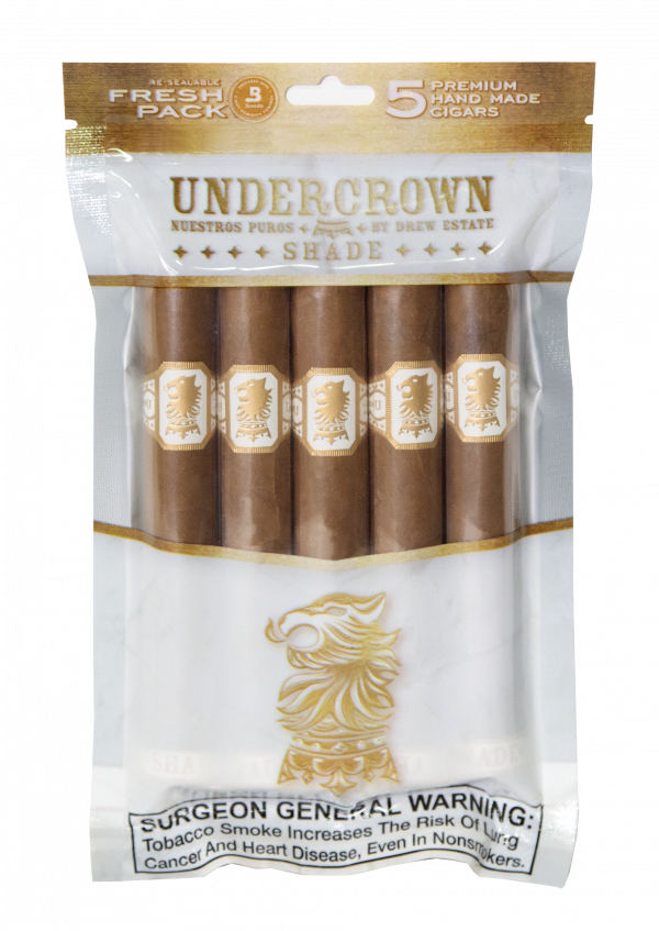 Pack of 5 count Undercrown Shade Gran Toro Fresh Pack cigars