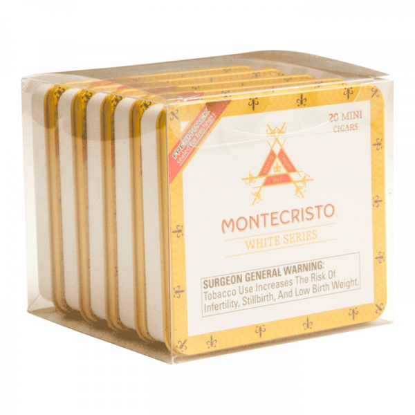 5 pack of Montecristo White series 20 count mini cigars