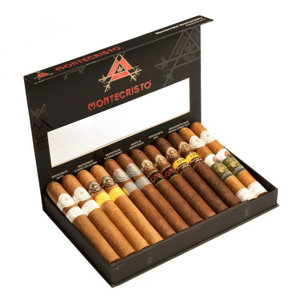 12 Cigar assortment of Montecristo in a black box